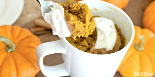 Easy Pumpkin Spice Mug Cake