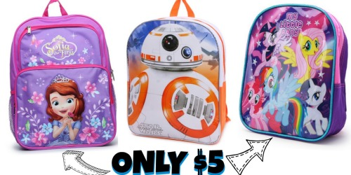 Cute Character Backpacks ONLY $5