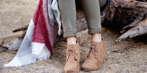 Cents of Style: Ankle Boots AND Blanket Scarf Only $29.95 Shipped (Over a $50 Value)