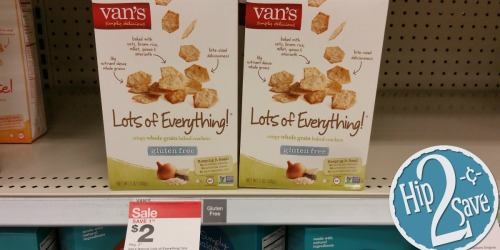 Target: Van's Gluten-Free Crackers Only 25¢ and Van's Gluten-Free Waffles Only 63¢