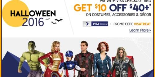 Rakuten.com: Extra $10 Off $40 Halloween Costumes, Accessories & Decor w/ Visa Checkout