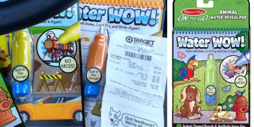 Target: Possible Melissa & Doug Water Wow! Coloring Pads Only $1.48 (Regularly $4.99) + More
