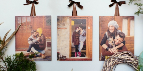 75% Off Wooden Photo Panels w/ Free Walgreens Store Pickup (Order & Pick Up Today)