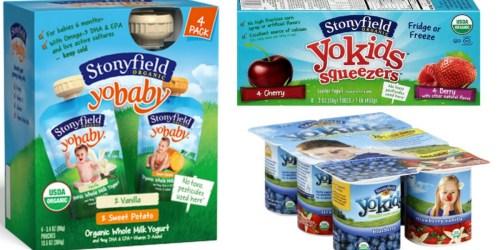 New $2/2 Stonyfield Kids' Organic Yogurt Coupon