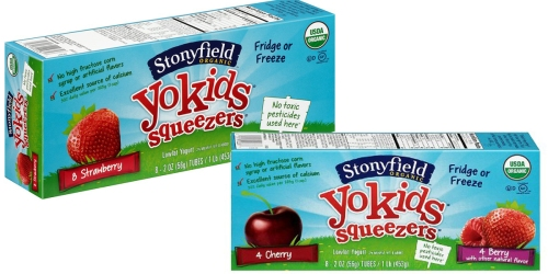 Target: Stonyfield Organic YoKids Squeezers 8-Pack Only $1.35 (After Ibotta) + More