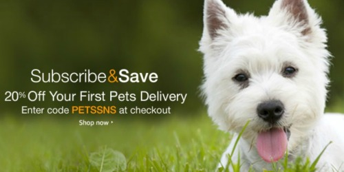 Amazon Prime: 20% Off Your First Pet Food & Supplies Subscribe & Save Order