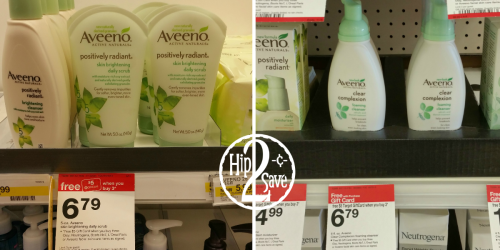 Target: Nice Deals on Aveeno & Neutrogena Skin Care Products (After Gift Cards)