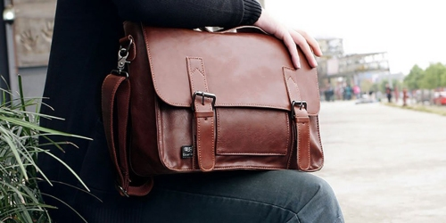 Amazon: Vintage Style Faux Leather Messenger Bag Only $26.99 (Regularly $97.99)