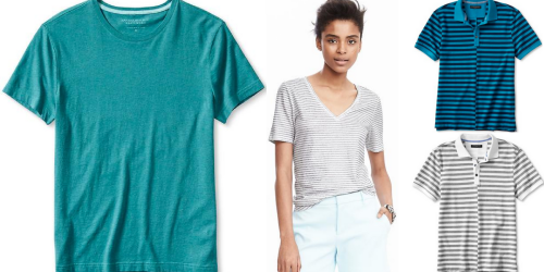 Banana Republic: Extra 50% Off Sale Items = Men's & Women's Tops As Low As $5.99