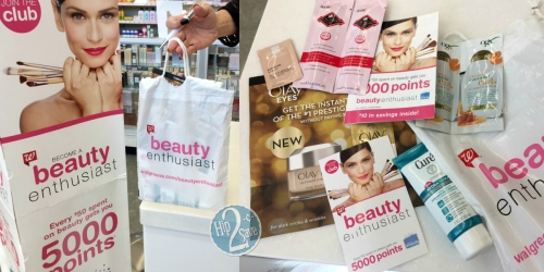 Walgreens: Become a Beauty Enthusiast AND Score FREE Bag of Samples + More