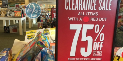 Barnes & Noble: 75% Off Red Dot Clearance