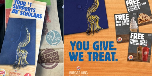 Burger King $1 Coupon Booklet = Coupons for 6 FREE Menu Items (No Other Purchase Required)