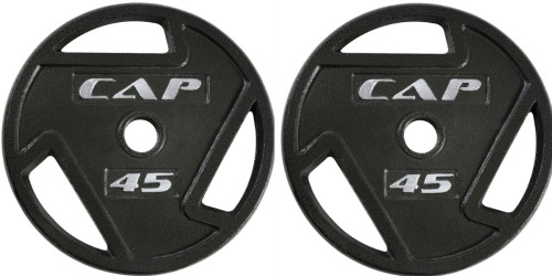 Amazon Prime: CAP Barbell 2-Inch Olympic Grip Plate 45 lbs Only $30.99 Shipped (Reg. $89.99)