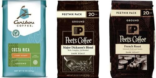 Amazon: Nice Deals on Caribou & Peet's Ground Coffee