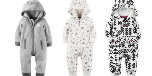 Kohl's: Carter's Hooded Fleece Coveralls As Low As $6.40, Carter's Halloween PJ's Only $7.22 + More
