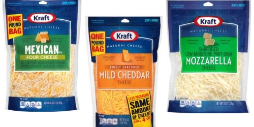 Did You Print this $2/2 Kraft Shredded Cheese Coupon? Makes for a Nice Deal at Target!