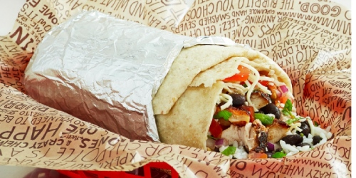 Chipotle: Buy 1 Get 1 Free Entree Item Mobile Coupon (Up to $10 Value)