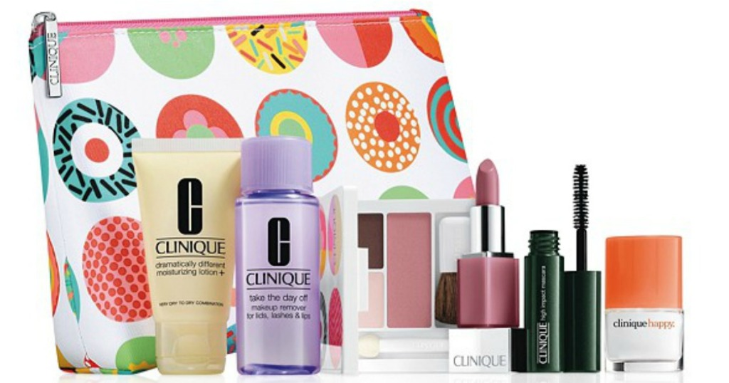a32b19cba99 Through October 17th, Macy's is offering up a FREE Clinique 7-Piece Gift Set  ($70 value!) with ANY $27 Clinique purchase. Plus, if you make a $55  Clinique ...