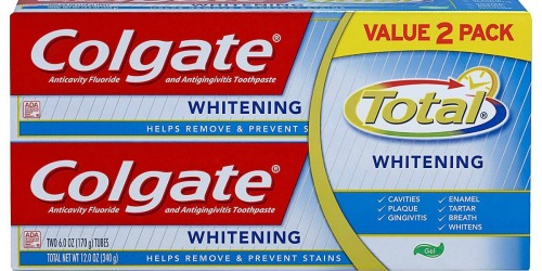 High Value $2/1 Colgate Toothpaste Twin-Pack Coupon = Only 99¢ Per Tube at Walgreens