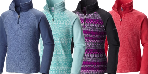 Columbia Girl's Glacial II Print 1/2 Zip Fleece Pullover ONLY $14 Shipped (Regularly $36)