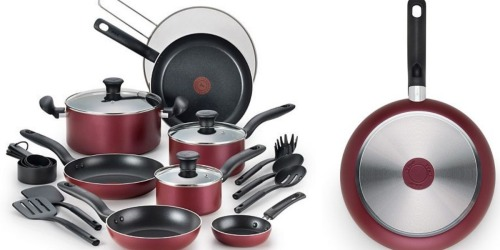 Kohl's: T-Fal Reserve 20-Piece Nonstick Cookware Set Only $48.99 Shipped (Regularly $169.99)