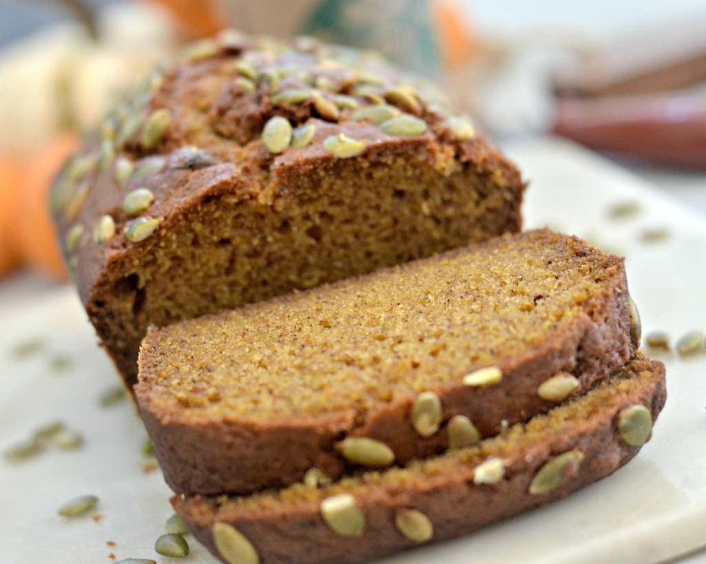 copycat starbucks sliced loaf of pumpkin bread