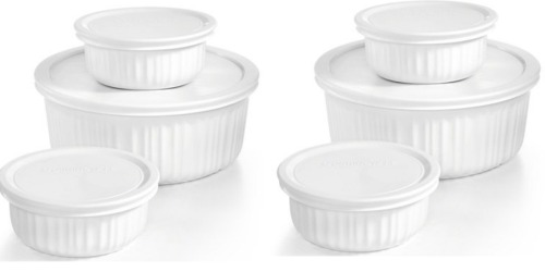 Macy's: 3-Piece Corningware French White Bakeware Set Only $14.99 (Comes with Fitted Lids!)