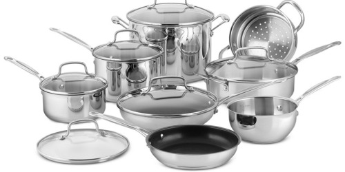 Macy's: Cuisinart Stainless Steel Cookware Set + Bakeware Set Only $93.99 Shipped (After Rebate)