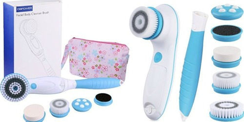 Amazon: 6-in-1 Facial & Body Cleansing Brush, Callus Remover & Bag ONLY $19.49