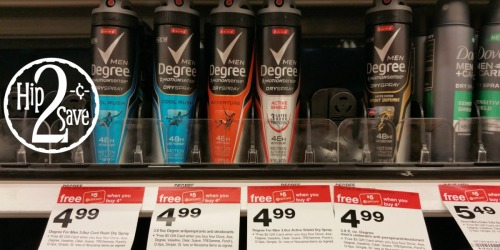 Target: BIG Savings On Unilever Products = Degree Dry Spray Deodorant Only 62¢ (After Gift Card)