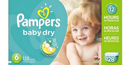 Amazon Family Members: Pampers Baby Dry Size 6 Diapers 128-Count Only $25.18 Shipped