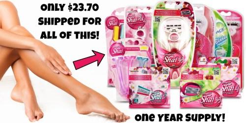 Dorco Shai Razor Frugal Gal Pack $23.70 Shipped (Regularly $47.40) – One Year's Supply of Razors
