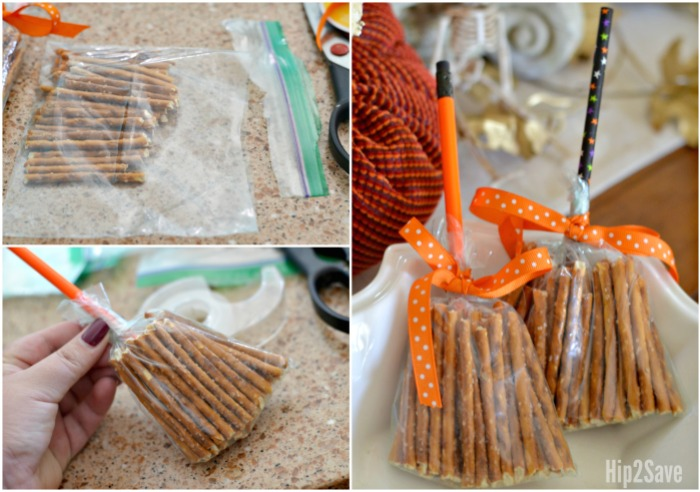 Create These Cute Broomsticks From Pretzels Easy Non