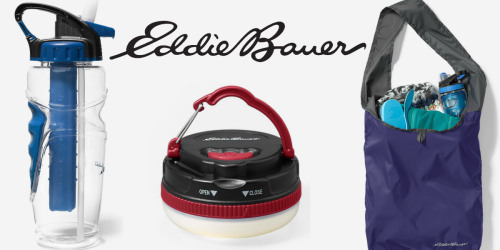 Eddie Bauer: 40% Off Sale + Free Shipping = Water Bottles, Totes, Camping Lights & More $9 or LESS