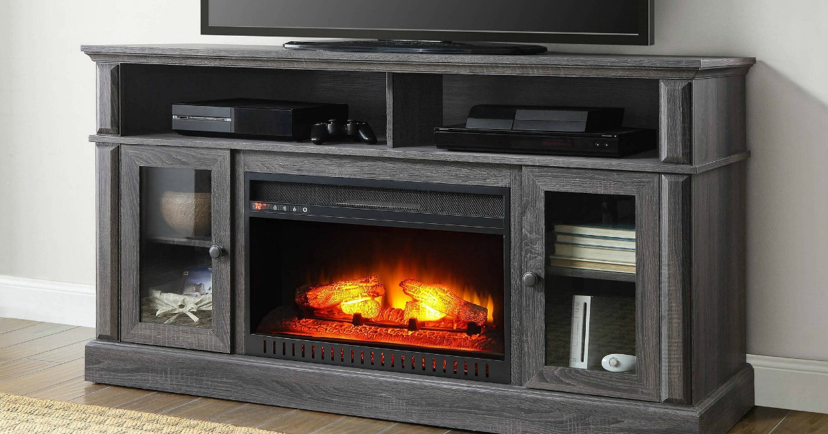 Walmart Barston Fireplace Tv Stand Only 279 Regularly 329