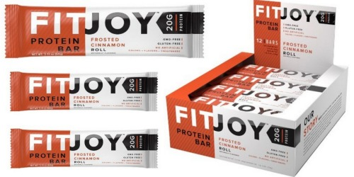 Amazon: FitJoy Nutrition Gluten-Free Protein Bars 12-Count Just $20.99 Shipped ($1.74 Per Bar!)