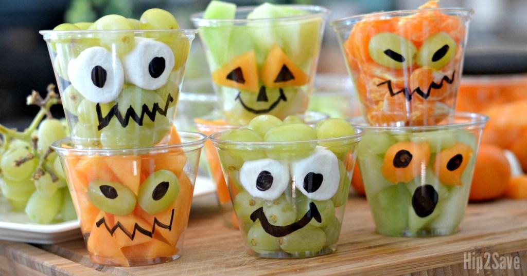 fresh fruit Halloween cups