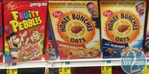 Rite Aid: Post Cereal as Low as $1 Per Box