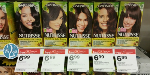 New $4/2 Garnier Nutrisse Hair Color Products Coupon = Only $3.32 Each at Target (After Gift Card)