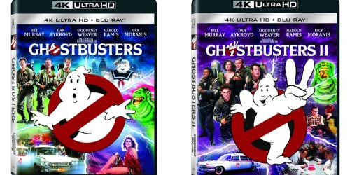 Amazon: Ghostbusters I and II 4K Ultra HD Blu-ray Combo Only $14.99 Each (Regularly $22.66)