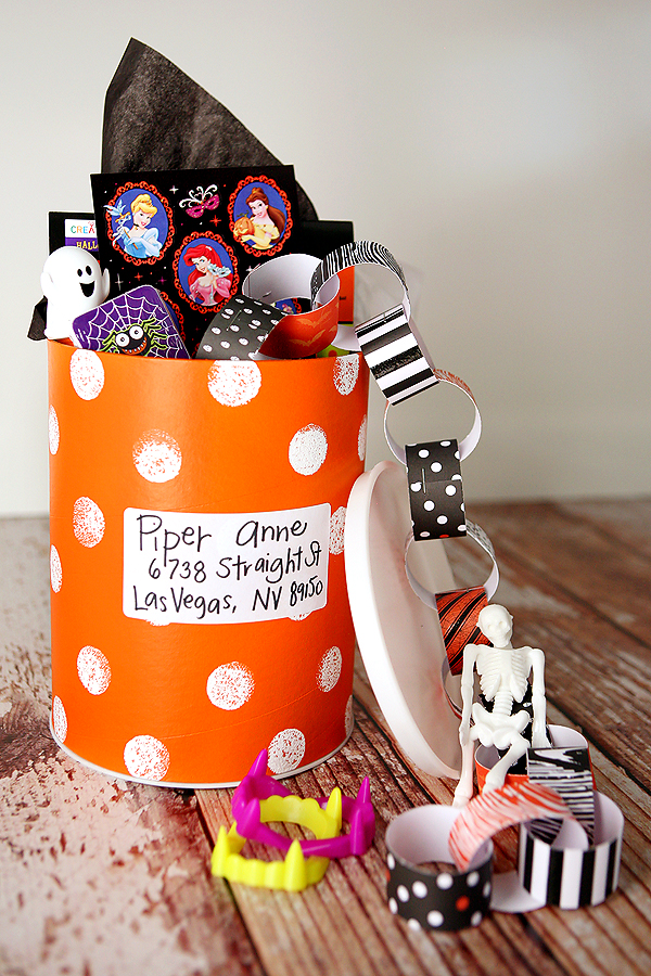 Halloween Shipping Canister