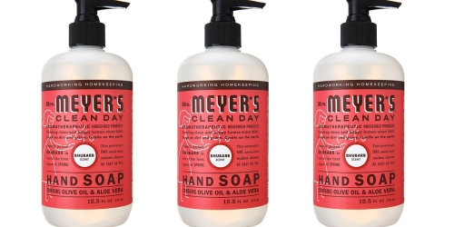 Amazon: Mrs. Meyer's Clean Day Rhubarb Hand Soap $2.44 Each Shipped (When You Buy 3 Pack)