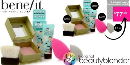 HSN: $20 Off $40 w/ VISA Checkout = Beauty Blender & Benefit 4-Piece Kit Only $20 Shipped ($77 Value)