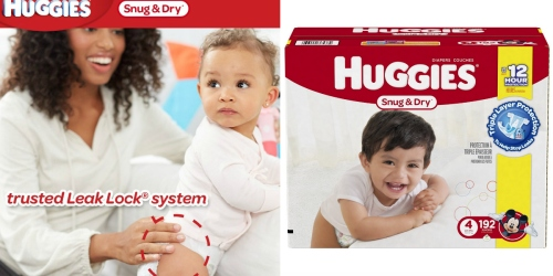 Amazon Family: Up to 35% Off Huggies Diapers = Snug & Dry Size 4 Diapers 12.9¢ Each Shipped + More