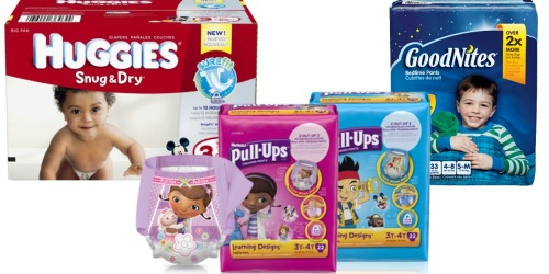 Two New Huggies, Pull-Ups and Goodnites Coupons = Great Deals at Target, Walgreens and CVS