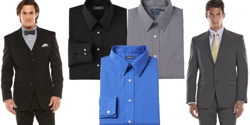 Kohl's: $10 Off $50 Men's Purchase = Great Buys on Dress Shirts, Suit Jackets, Pants & More