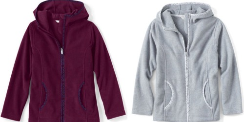 Lands' End: 50% Off One Item Including Sale Items = Girl's Fleece Hoodie ONLY $4.98 (Reg. $36)