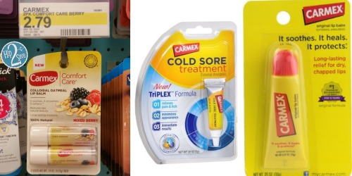 3 New Carmex Lip Care Coupons = Comfort Care Lip Balm 2-Pack Only $1.50 at Target