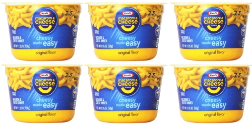 Amazon: 10 Pack of Kraft Easy Mac Microwavable Cups Only $6 Shipped (Just 60¢ Each)