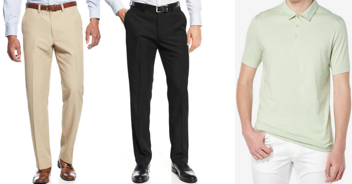 Macy's: Men's Haggar Dress Pant AND Polo Shirt Only $19.98 ...